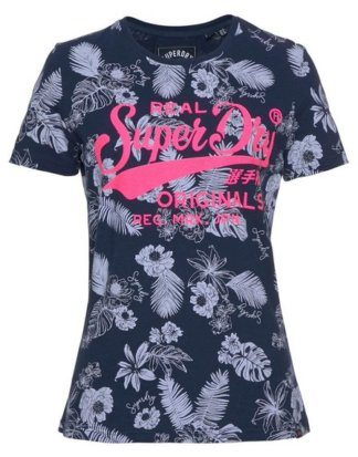 "Superdry T-Shirt ""REAL ORIGINALS MONO TROPICAL AOP ENTRY TEE"" im tropical Allover-Design"