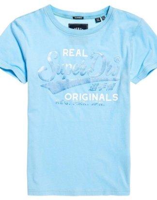 "Superdry T-Shirt ""REAL ORIGINALS SATIN ENTRY TEE"" in zarten Pastelltönen"