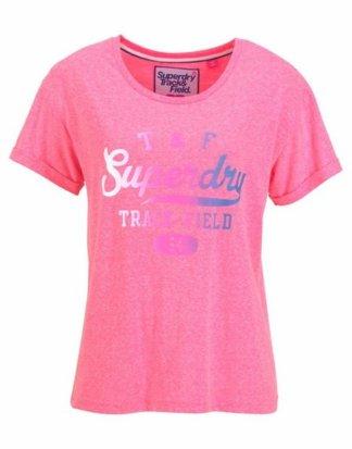 "Superdry T-Shirt ""TRACKSTER SLIM BF TEE"" mit mehrfarbigem Frontprint"