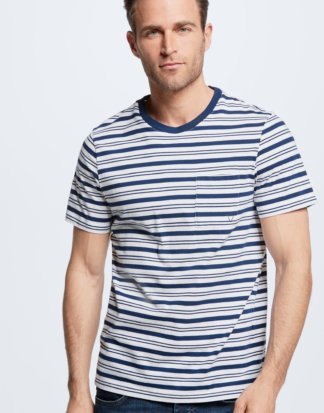 T-Shirt Flint, navy gestreift