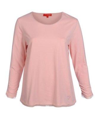 THEA T-Shirt mit Rundhals und Strass-Steinchen