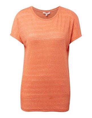 "TOM TAILOR Denim Kurzarmshirt ""T-Shirt mit elastischem Saum"""