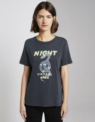"""TOM TAILOR Denim T-Shirt """"Print-Shirt im Boxy Fit"""""""