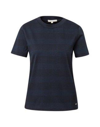 "TOM TAILOR Denim T-Shirt ""T-Shirt im Glencheck-Look"""