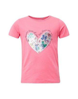 "TOM TAILOR T-Shirt ""T-Shirt mit Pailletten-Herz"""