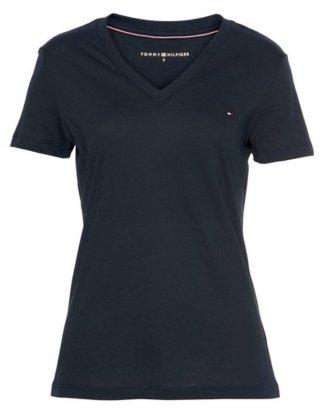 """TOMMY HILFIGER T-Shirt """"HERITAGE V-NK TEE"""" mit Tommy Hilfiger Logo-Flag auf der Brust"""