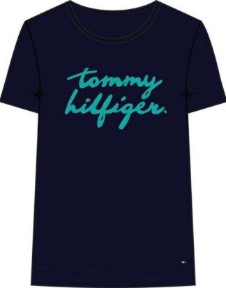 "TOMMY HILFIGER T-Shirt ""PENNY C-NK TEE SS"" mit großem Tommy HIlfiger Wappen als Frontprint"