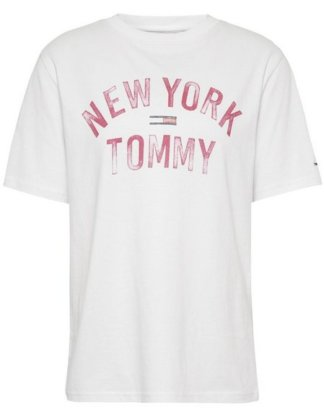 "TOMMY JEANS T-Shirt ""TJW FADED LOGO GMD TEE"" mit Tommy Jeans City Logo-Print"