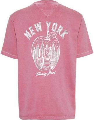 "TOMMY JEANS T-Shirt ""TJW NEW YORK TEE"" mit großem Rückenprint"