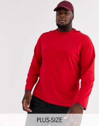 Tommy Hilfiger - Big & Tall - Langärmliges Stretch-Shirt in Rot