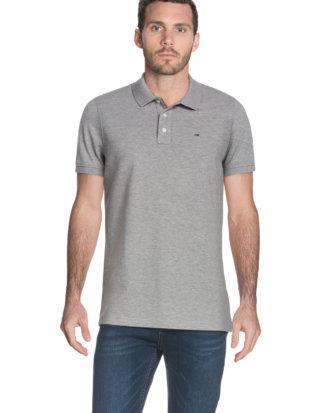Tommy Hilfiger Polo-Shirt, gerader Schnitt grau