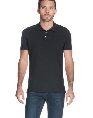 Tommy Hilfiger Polo-Shirt, gerader Schnitt schwarz