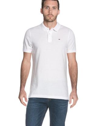 Tommy Hilfiger Polo-Shirt, gerader Schnitt weiß