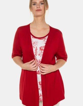 Ulla Popken T-Shirt 2-in-1-Shirt, Asia-Design, Halbarm, selection