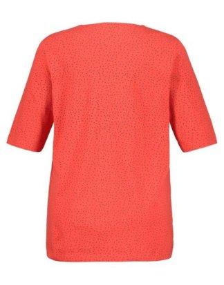 Ulla Popken T-Shirt Shirt mit Tropfenausschnitt, CLASSIC