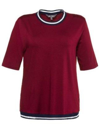 Ulla Popken T-Shirt bis 62+ Shirt Metallic-Effekt Rundhalsausschnitt Halbarm