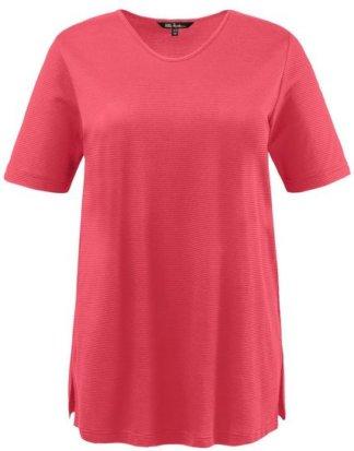 Ulla Popken T-Shirt bis 64, Oberteil mit Ringelmuster, T-Shirt, Basic, Halbarm, Rundhalsausschnitt
