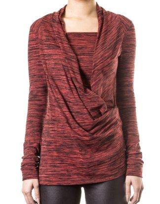 Vivienne Westwood Anglomania Damen Shirt Asymmetrisch rot