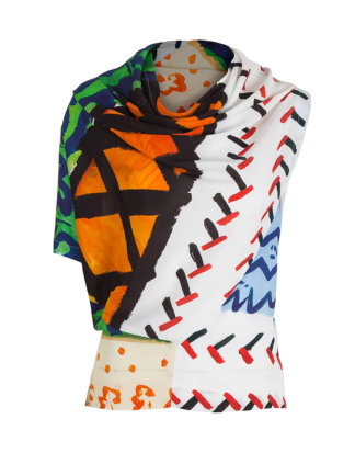 Vivienne Westwood Damen Shirt Asymmetrisch multicolour