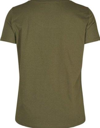 Zizzi T-Shirt Damen Große Größen T-Shirt Basic Baumwolle Kurzarm Oberteil