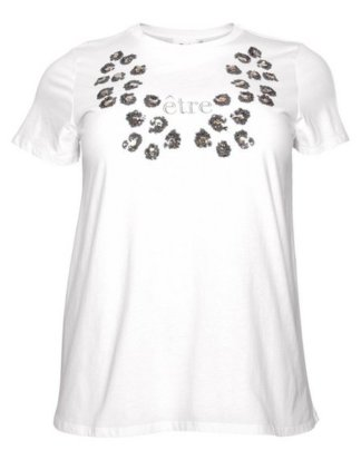 """Zizzi T-Shirt """"mit Pailletten und Stickerei"""""""
