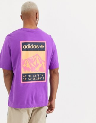 adidas Originals - Adiplore - Violettes T-Shirt mit Rücken-Print