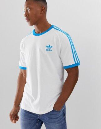 adidas Originals - California - T-Shirt in Weiß-Blau