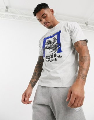 adidas Originals - Club Pillar - T-Shirt mit Logo in Grau