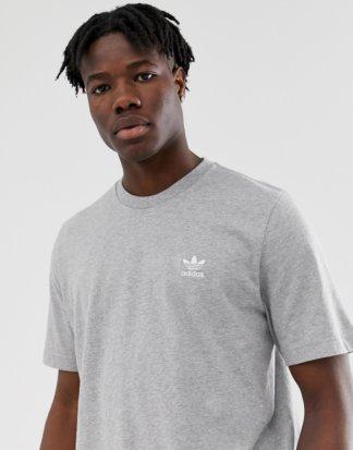 adidas Originals - Essentials - Graues T-Shirt mit kleinem Logo