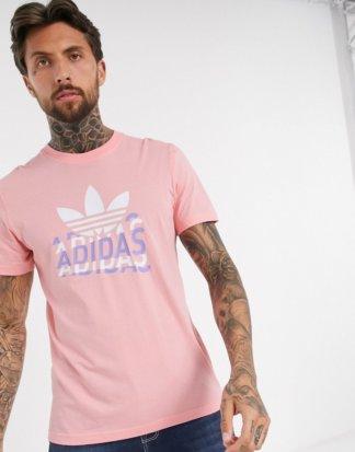 adidas Originals - Rosa T-Shirt mit verblasstem Logo