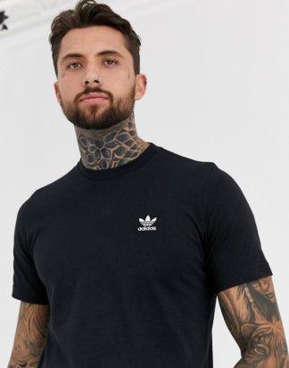 adidas Originals - Schwarzes T-Shirt mit kleinem Logo