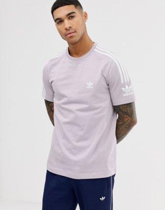 adidas Originals - T-Shirt mit Logo in Veilchenblau-Violett