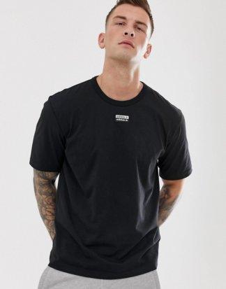 adidas Originals - Vocal - Schwarzes T-Shirt mit mittigem Logo