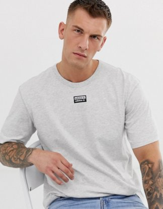 adidas Originals - Vocal - T-Shirt mit mittigem Logo in Grau