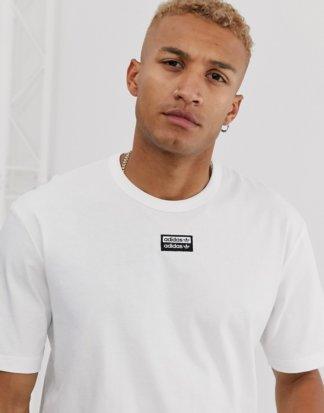 adidas Originals - Vocal - Weißes T-Shirt mit mittigem Logo