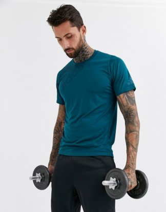 adidas - Performance - Blaugrünes T-Shirt mit Logo