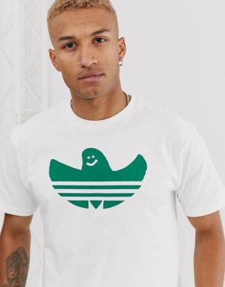 adidas - Skateboarding - Weißes T-Shirt mit Shmoo-Logo