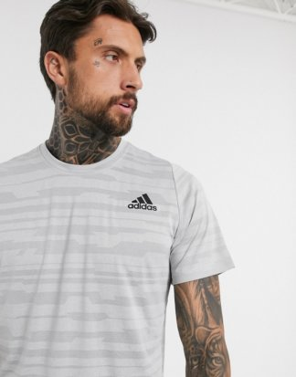 adidas Training - Kalkgraues T-Shirt