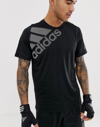 adidas - Training - Schwarzes T-Shirt mit Logo