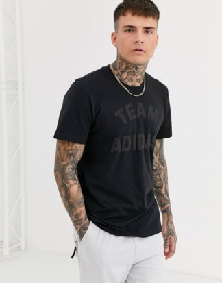 adidas - Varsity Pack - Schwarzes T-Shirt mit Grafik