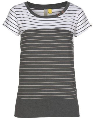 "alife and kickin T-Shirt ""COSMA"" angesagtes Kurzarmshirt im trendy Streifen-Mix"