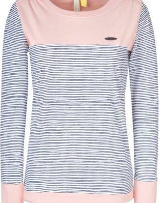 "alife and kickin T-Shirt ""LeonieAK"" modisches Longsleeve-Shirt mit Kontrast-Details"