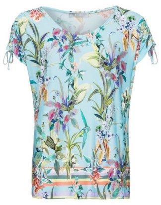 "bianca T-Shirt ""JULIE"" im floralen Print mit Raffungen an den Schultern"