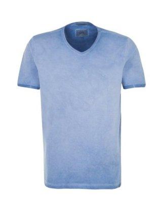 "camel active T-Shirt ""camel active"" Kurzarm V-Neck Uni"