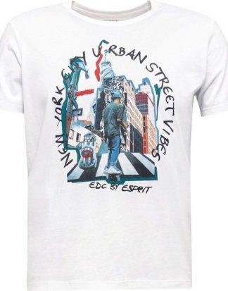 edc by Esprit T-Shirt mit modernem Frontprint