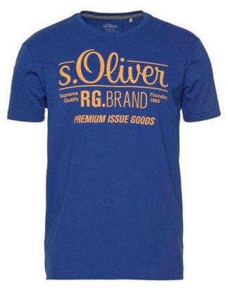 s.Oliver T-Shirt mit großem Logo-Print